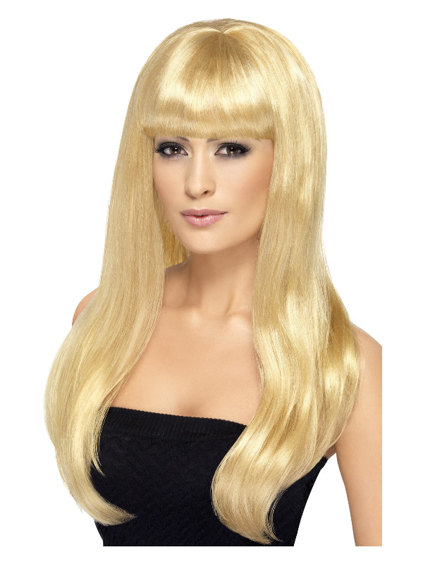 Babelicious Wig, Blonde, Long, Straight with Fringe