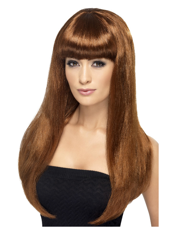 Babelicious Wig, Auburn, Long, Straight with Fringe