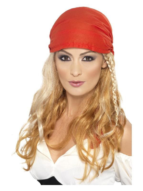 Pirate Princess Wig, Blonde, with Bandana