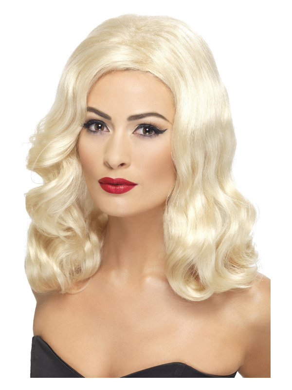 20s Luscious Long Wig, Blonde, with Waves