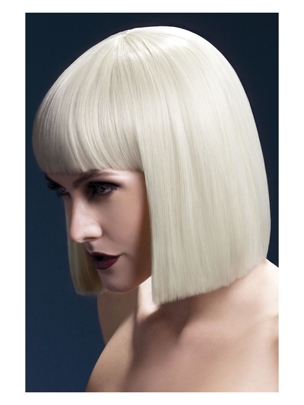 Fever Lola Wig, Blonde, Blunt Cut Bob with Fringe, 30cm / 12in
