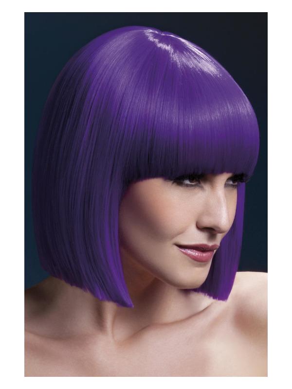 Fever Lola Wig, Purple, Blunt Cut Bob with Fringe, 30cm / 12in
