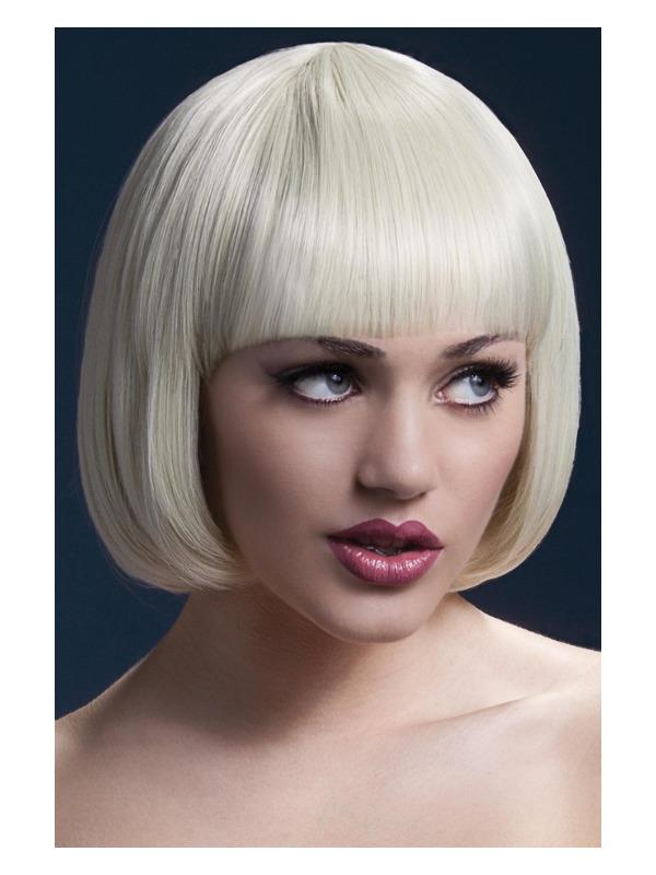 Fever Mia Wig, Blonde, Short Bob with Fringe , 25cm / 10in