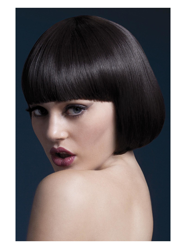 Fever Mia Wig, Brown, Short Bob with Fringe, 25cm / 10in