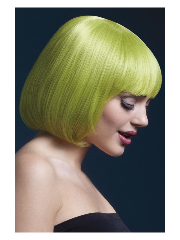 Fever Mia Wig, Pastel Green, Short Bob with Fringe, 25cm / 10in
