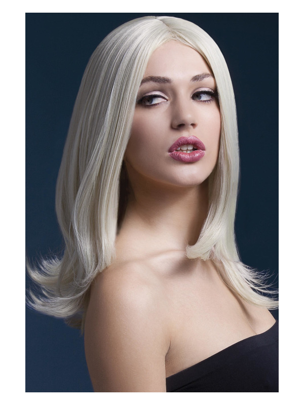 Fever Sophia Wig, Blonde, Long Layered with Centre Parting, 17inch/43cm