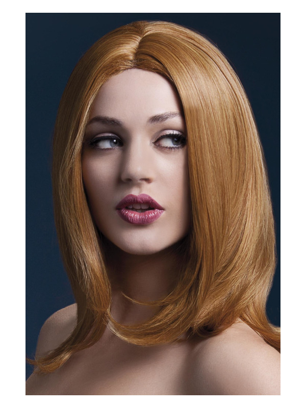 Fever Sophia Wig, Auburn, Long Layered with Centre Parting, 17inch/43cm