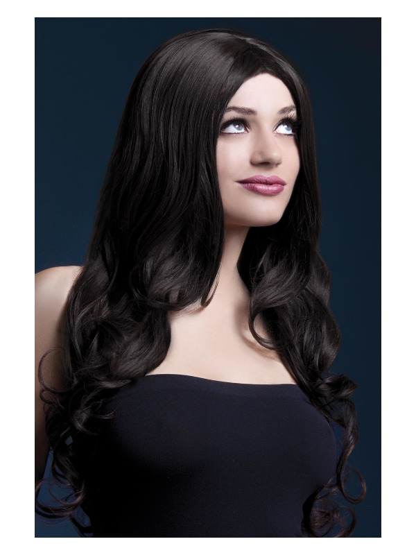 Fever Rhianne Wig, Brown, Long Soft Curl with Centre Parting, 26inch/66cm