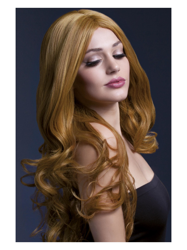 Fever Rhianne Wig, Auburn, Long Soft Curl with Centre Parting, 26inch/66cm