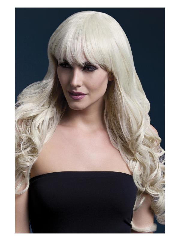 Fever Isabelle Wig, Blonde, Long Soft Curl with Fringe, 66cm / 26in