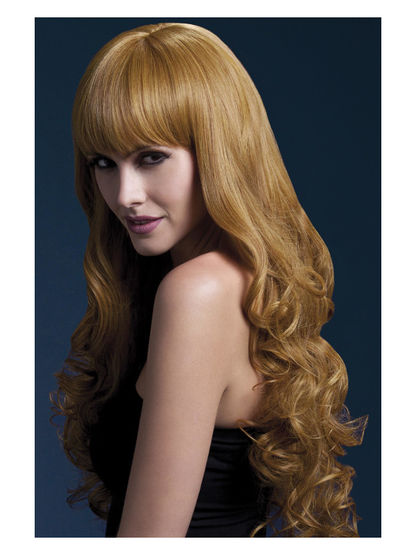 Fever Isabelle Wig, Auburn, Long Soft Curl with Fringe, 66cm / 26in