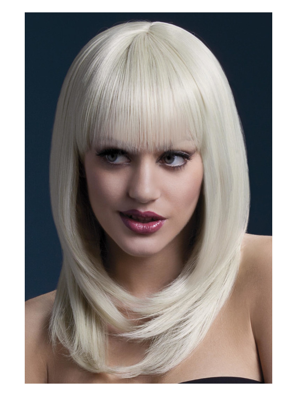 Fever Tanja Wig, Blonde, Feathered Cut with Fringe, 48cm / 19in