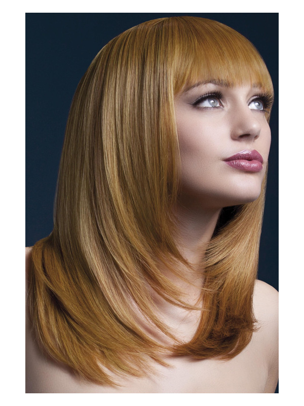 Fever Tanja Wig, Auburn, Feathered Cut with Fringe, 48cm / 19in