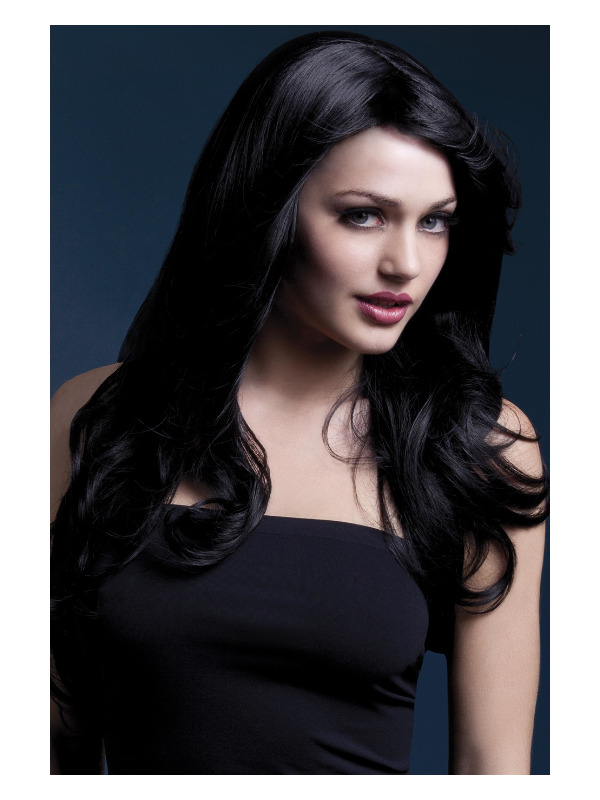Fever Nicole Wig, Black, Soft Wave with Side Parting, 66cm / 26in