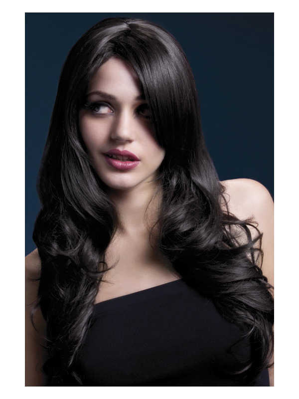 Fever Nicole Wig, Brown, Soft Wave with Side Parting, 66cm / 26in
