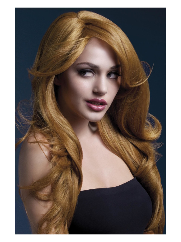 Fever Nicole Wig, Auburn, Soft Wave with Side Parting, 66cm / 26in