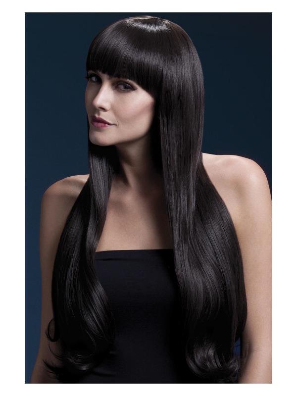 Fever Bella Wig, Brown, Natural Wave with Fringe, 28inch/71cm