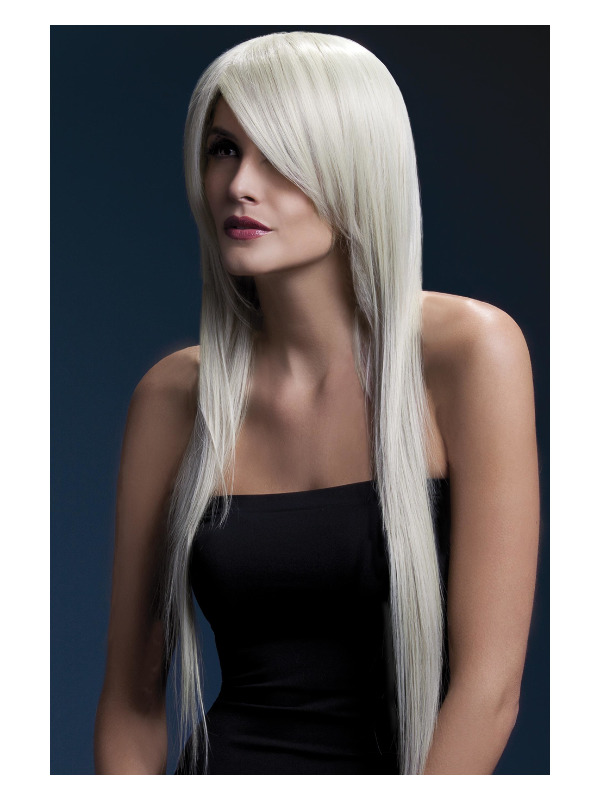 Fever Amber Wig, Blonde, Long Straight with Feathered Fringe, 71cm / 28in