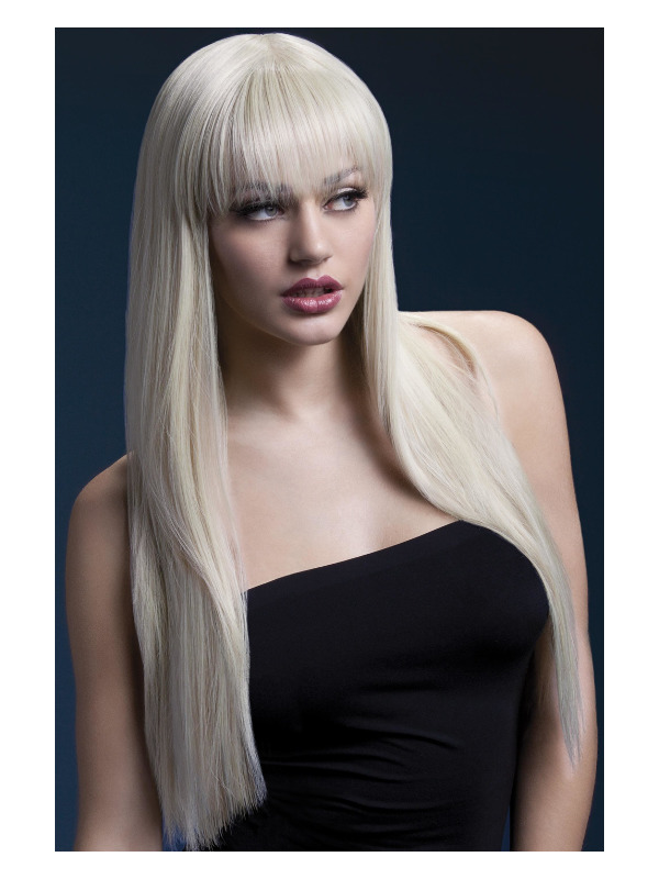 Fever Jessica Wig, Blonde, Long Straight with Fringe, 26inch/66cm
