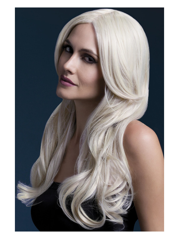 Fever Khloe Wig, Blonde, Long Wave with Centre Parting,66cm/26in