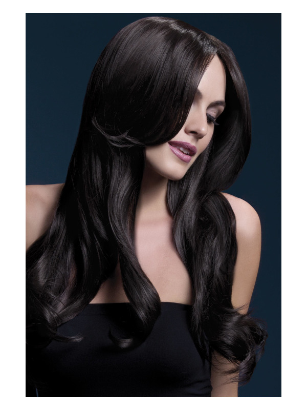 Fever Khloe Wig, Brown, Long Wave with Centre Parting, 66cm / 26in