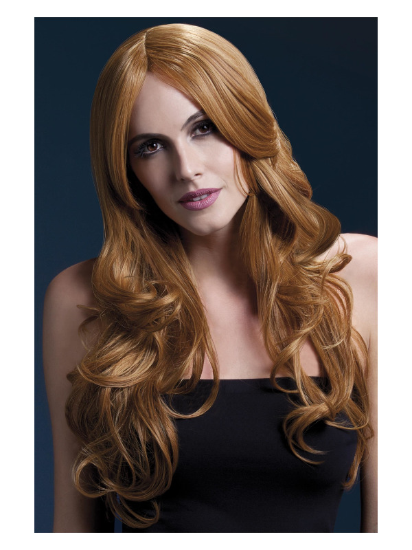 Fever Khloe Wig, Auburn, Long Wave with Centre Parting, 66cm / 26in