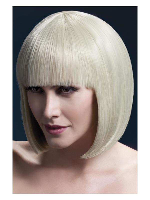 Fever Elise Wig, Blonde, Sleek Bob with Fringe, 33cm / 13in
