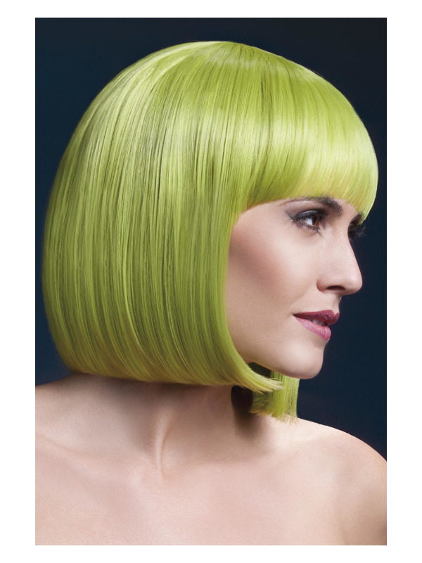 Fever Elise Wig, Pastel Green, Sleek Bob with Fringe, 33cm / 13in