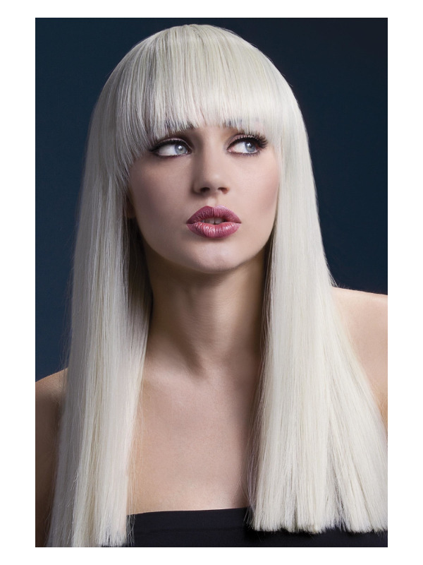 Fever Alexia Wig, Blonde, Long Blunt Cut with Fringe, 48cm / 19in