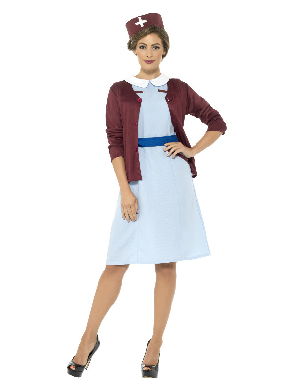 Vintage Nurse Costume, Blue