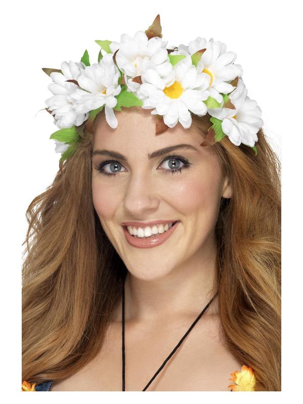 Daisy Floral Headband, White