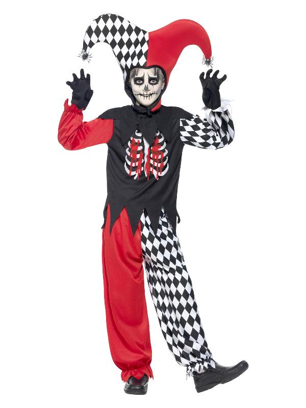 Blood Curdling Jester Costume, Black