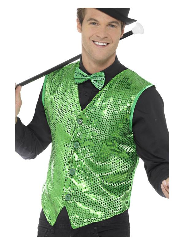 Sequin Waistcoat, Green