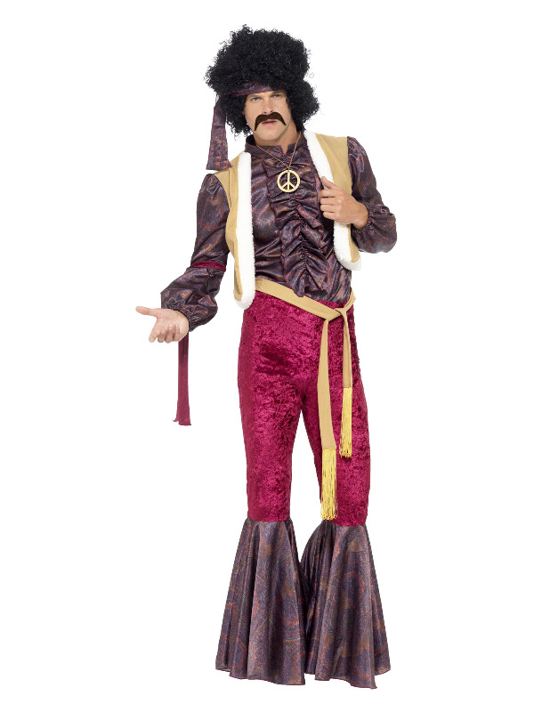70s Psychedelic Rocker Costume, Purple
