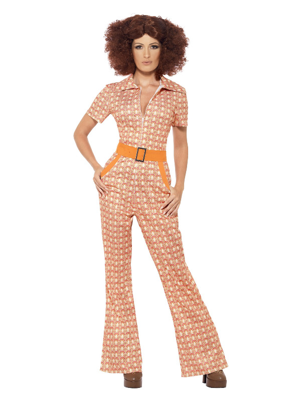 Authentic 70s Chic Costume, Orange