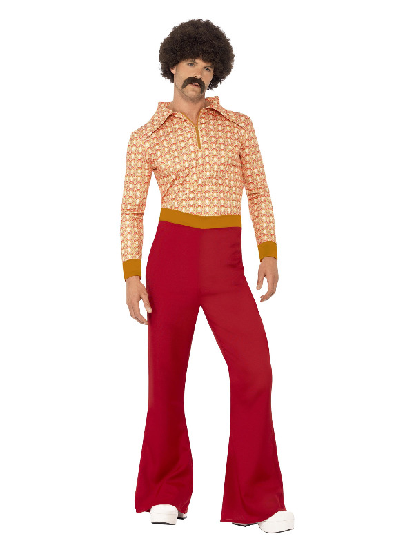 Authentic 70s Guy Costume, Red