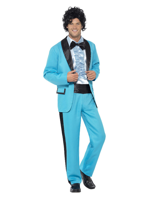 80s Prom King Costume, Blue
