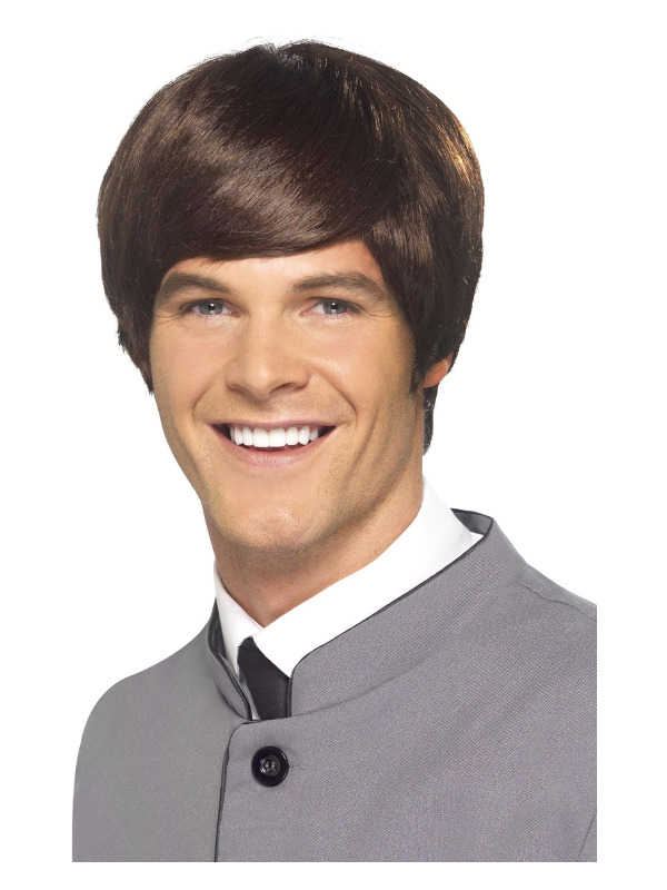 60s Male Mod Wig, Brown, Short