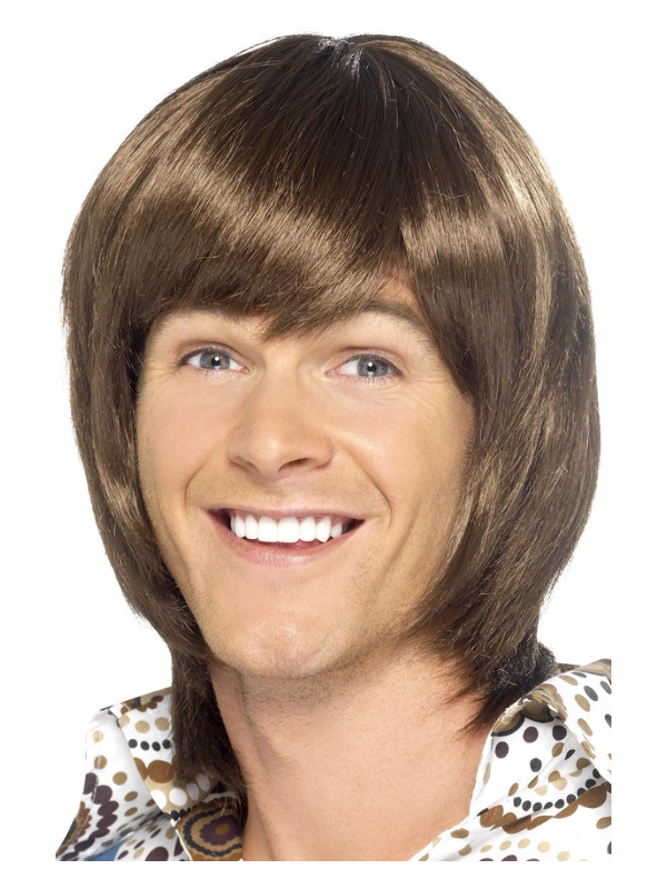 70s Heartthrob Wig, Brown