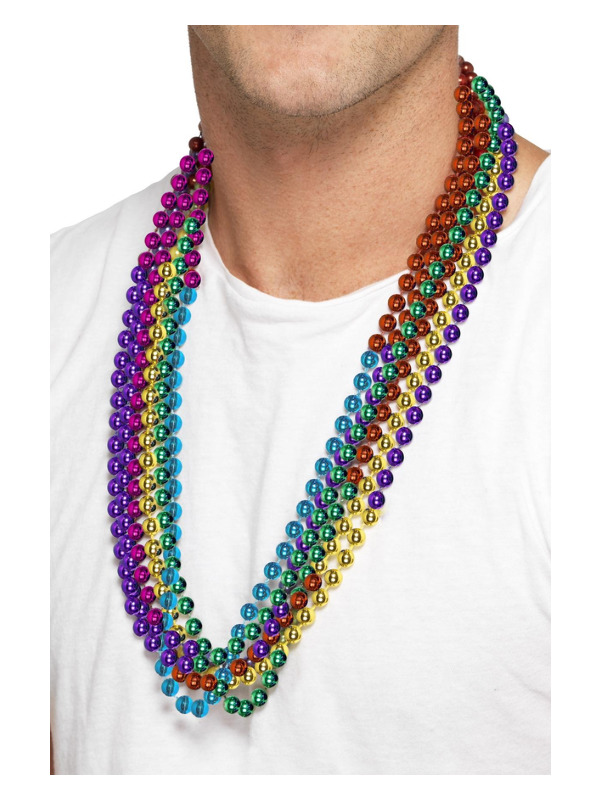 Party Beads, Rainbow, 6 Strings Per Pack