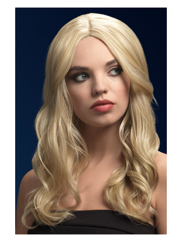Fever Khloe Wig, Dark Blonde, Long Wave with Centre Parting, 26inch/66cm