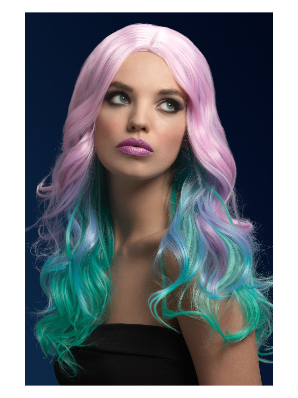 Fever Khloe Wig, Pastel Ombre, Long Wave with Centre Parting, 26inch/66cm