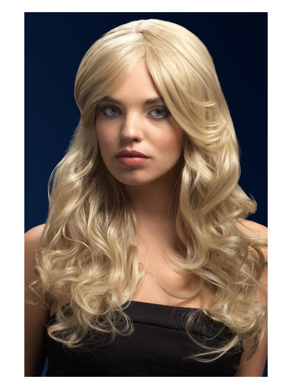 Fever Nicole Wig, Dark Blonde, Soft Wave with Side Parting, 26inch/66cm