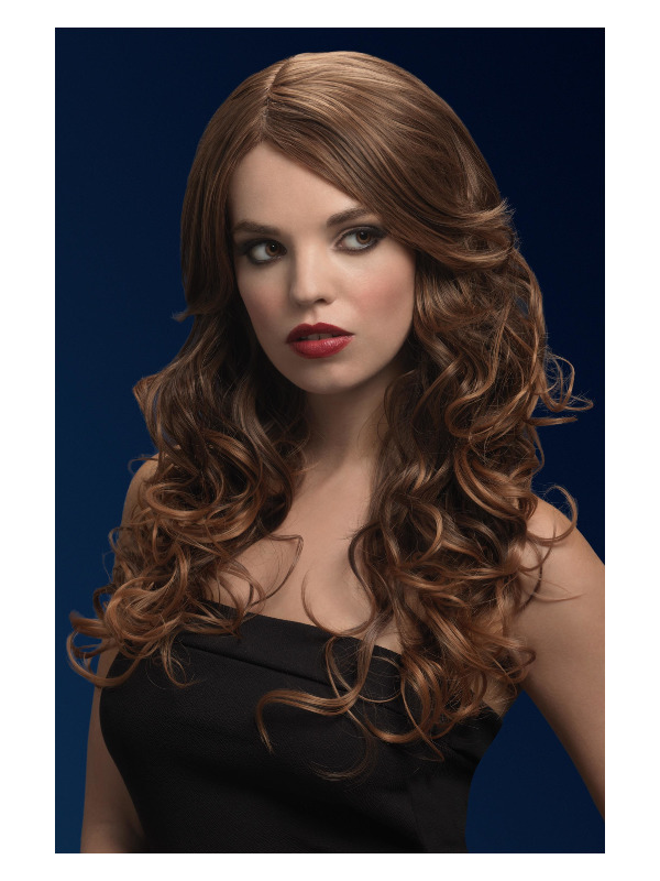 Fever Nicole Wig, Light Brown, Soft Wave with Side Parting, 26inch/66cm