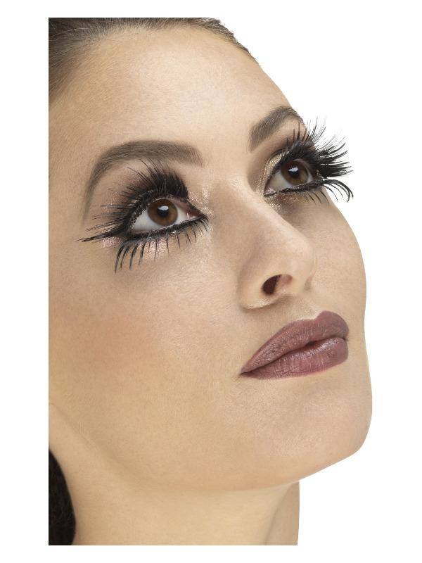 Eyelashes, Black, Top & Bottom Set, Wings, Contains Glue