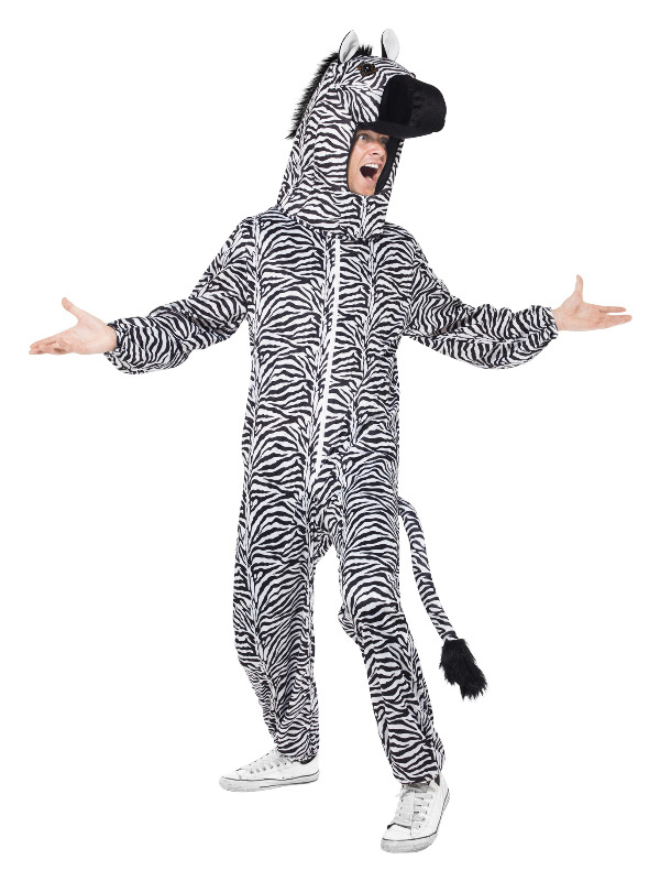 Zebra Costume, Black & White, with All in One & Hood