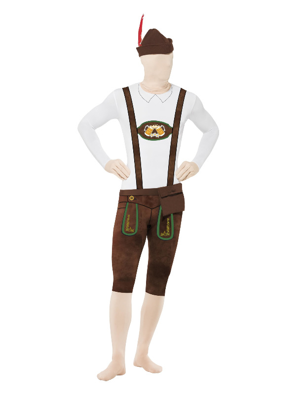 Bavarian Second Skin Suit, with Hat, Brown