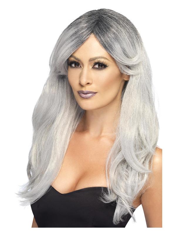 Ghostly Glamour Wig, Grey
