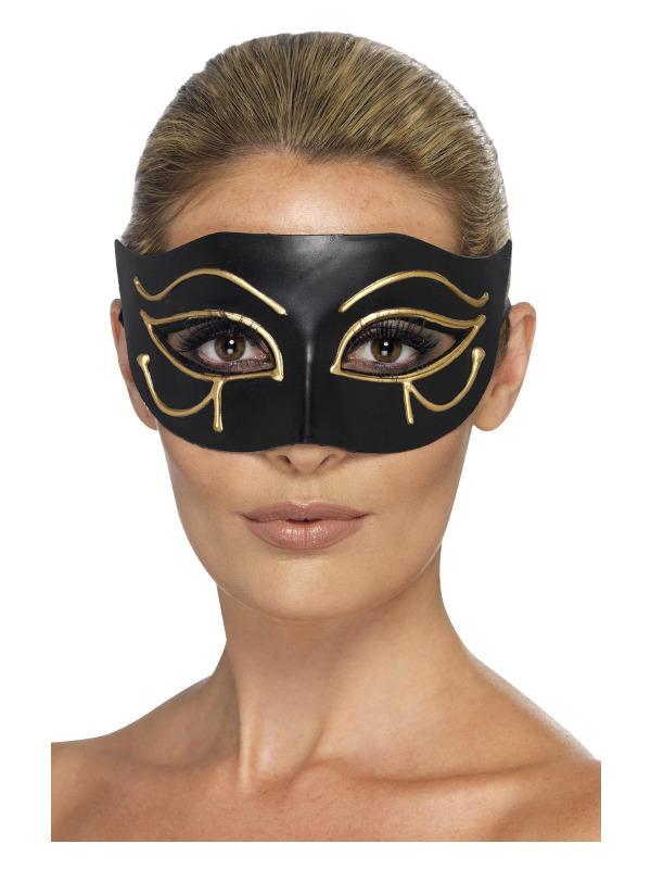 Egyptian Eye of Horus Eyemask, Black & Gold