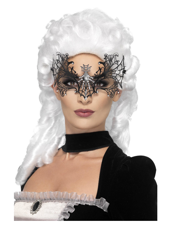 Black Widow Web Eyemask, Metal Filigree